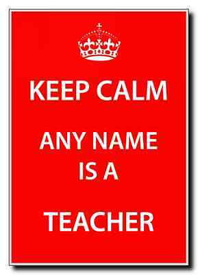 Teacher Personalised Keep Calm Jumbo Magnet