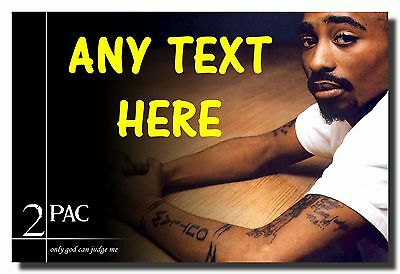 Tupac Personalised Jumbo Fridge Magnet