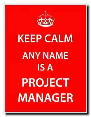 Project Manager Personalised Keep Calm Jumbo Magnet