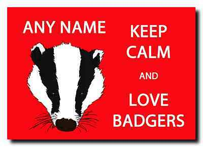 Keep Calm And Love Badgers Personalised Large Plaque