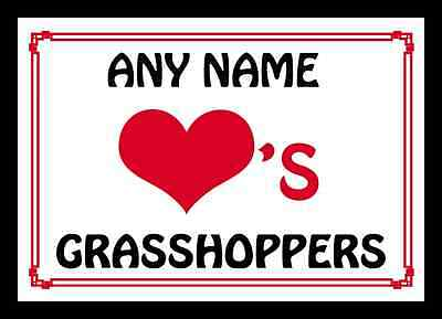 Love Heart Grasshoppers Personalised Placemat