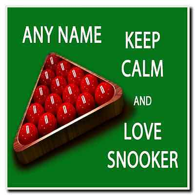 Keep Calm And Love Snooker Personalised Drinks Mat Coaster