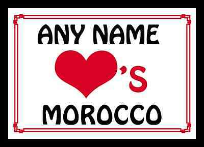 Love Heart Morocco Personalised Placemat