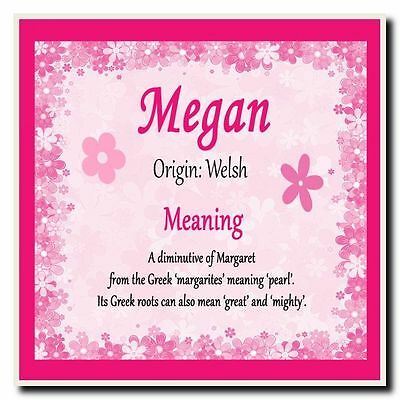 Megan Personalised Name Meaning Coaster