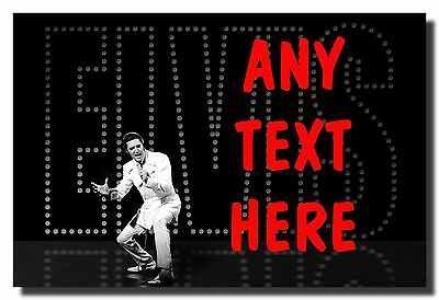 Black Elvis Presley Personalised Jumbo Fridge Magnet