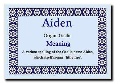Aiden Personalised Name Meaning Jumbo Magnet