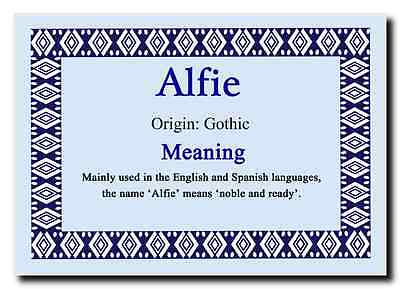 Alfie Personalised Name Meaning Jumbo Magnet
