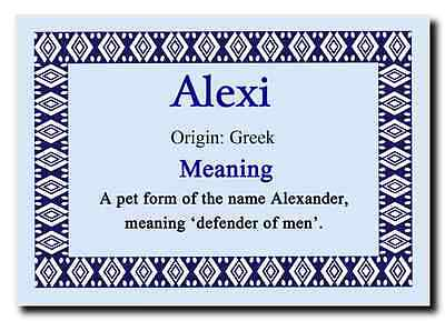 Alexi Personalised Name Meaning Jumbo Magnet