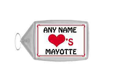 Love Heart Mayotte Personalised Keyring