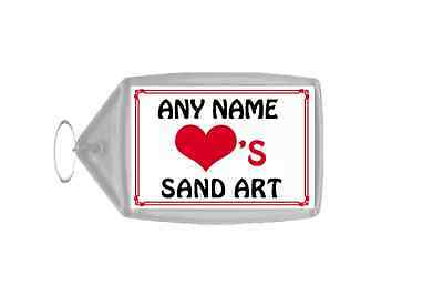 Love Heart Sand Art Personalised Keyring