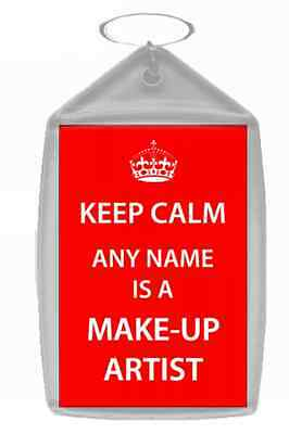 Make-Up Artist Personalised Keep Calm Keyring