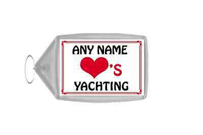 Love Heart Yachting Personalised Keyring