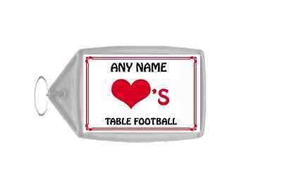 Love Heart Table Football Personalised Keyring
