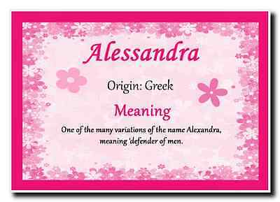Alessandra Personalised Name Meaning Jumbo Magnet