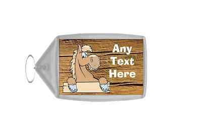 Palomino Horse Cracked Personalised Keyring