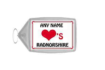 Love Heart Radnorshire Personalised Keyring