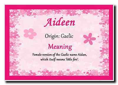 Aideen Personalised Name Meaning Jumbo Magnet