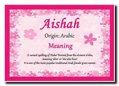 Aishah Personalised Name Meaning Jumbo Magnet