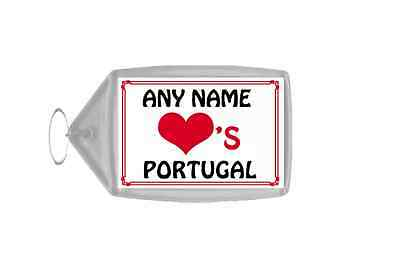 Love Heart Portugal Personalised Keyring