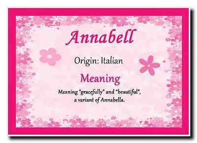 Annabell Personalised Name Meaning Jumbo Magnet