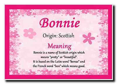 Bonnie Personalised Name Meaning Jumbo Magnet