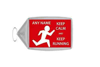 Keep Calm And Keep Running Personalised Large Keyring