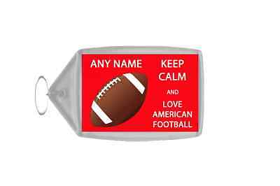 Keep Calm And Love American Football Personalised Large Keyring