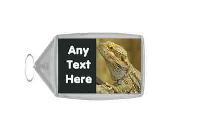 Bearded Dragon Lizard Personalised Keyring
