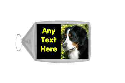 Bernese Mountain Dog Personalised Keyring