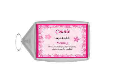 Connie Personalised Name Meaning Keyring