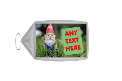 Gnome Garden Personalised Keyring