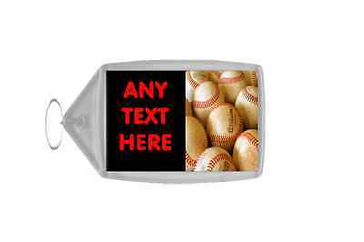 Baseball Personalised Keyring