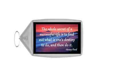 Inspirational & Motivational Quote Personalised Large Keyring - Quote 24