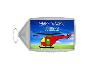 Helicopter Personalised Keyring