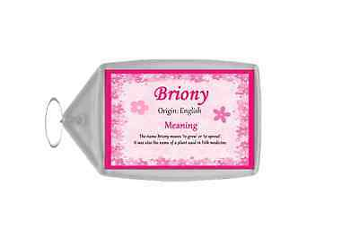 Briony Personalised Name Meaning Keyring