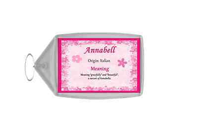 Annabell Personalised Name Meaning Keyring