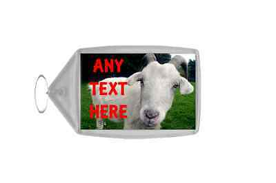 Goat Personalised Keyring