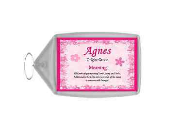 Agnes Personalised Name Meaning Keyring