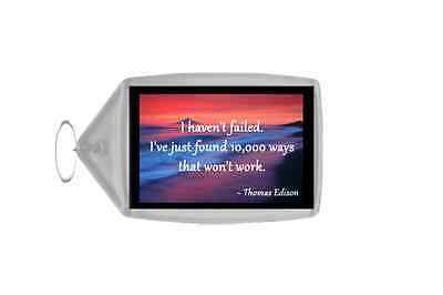 Inspirational & Motivational Quote Personalised Large Keyring - Quote 112