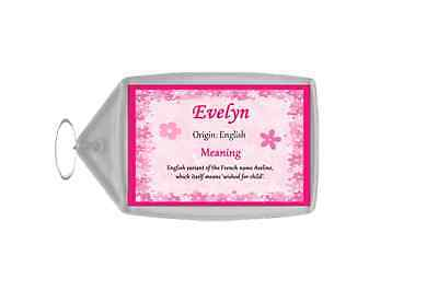 Evelyn Personalised Name Meaning Keyring