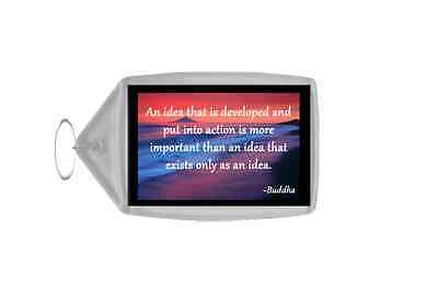 Inspirational & Motivational Quote Personalised Large Keyring - Quote 1