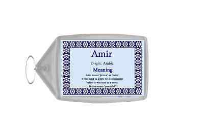 Amir Personalised Name Meaning Keyring