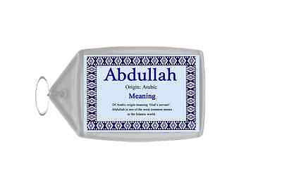 Abdullah Personalised Name Meaning Keyring