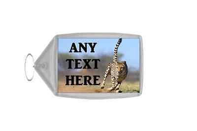 Cheetah Personalised Keyring