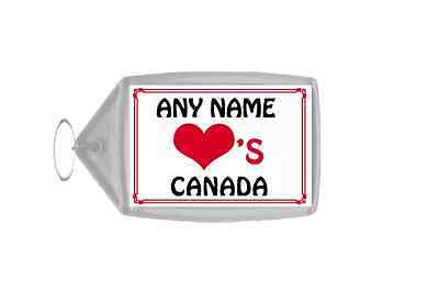 Love Heart Canada Personalised Keyring