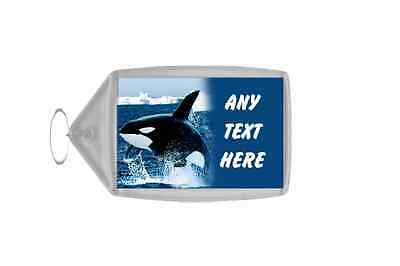 Killer Whale Personalised Keyring