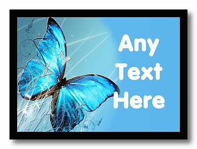 Blue Butterfly Personalised Dinner Table Placemat