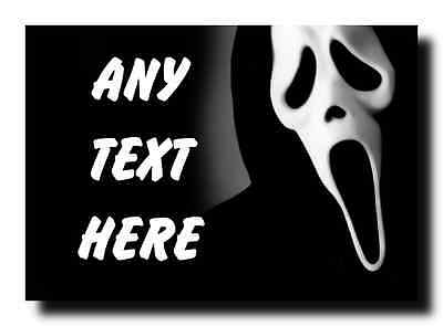 Scream Scary Personalised Large Plaque