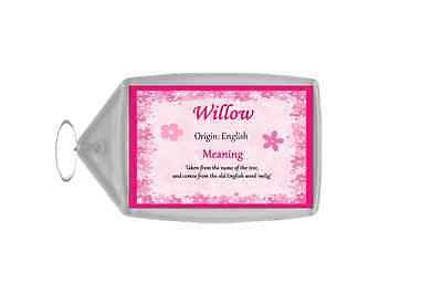 Willow Personalised Name Meaning Keyring