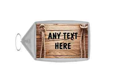 Wooden Effect Effect Personalised Keyring